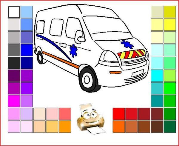 Ambulances page 77 - Coloriage ambulance ...